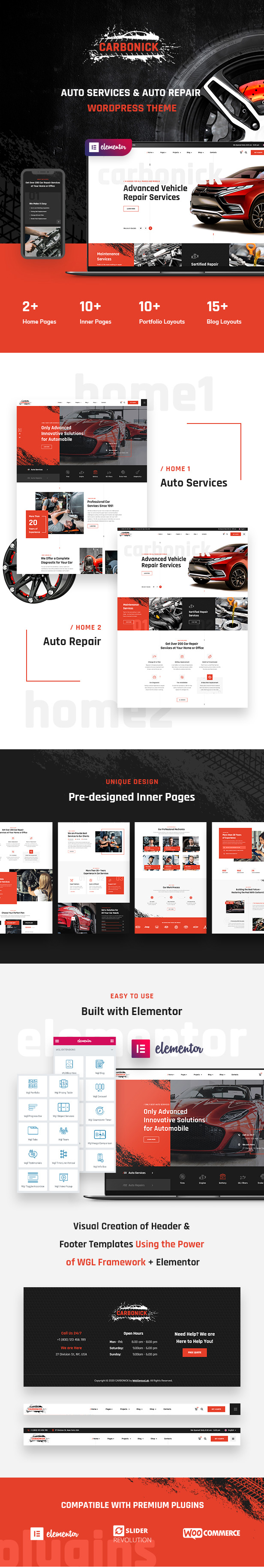 Carbonick - Auto Services & Repair WordPress Theme - 1